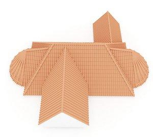 Realistic Roof Shingles 15 3D model