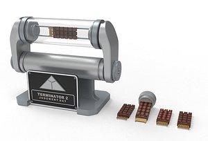brain chip stand terminator 3D model
