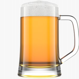 3D Beer Glass  4  Without Condensation model