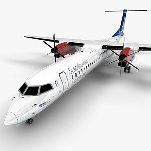 3D Scandinavian Airlines Bombardier DHC-8 Q400 Dash 8 L1497