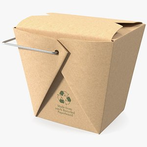 3D Kraft Paper Take Away Food Container 16 Oz