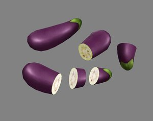 3D model eggplant vegetable