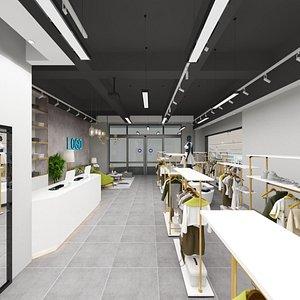 women clothing boutique 3D model