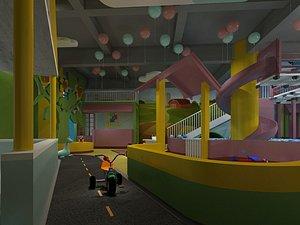 3D Parent-child Activity Room Children's Playground Ocean Ball model