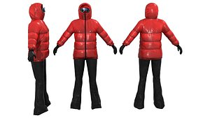ski outfit 3D model