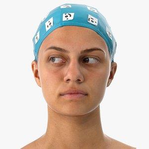 3D penelope human head eyes model