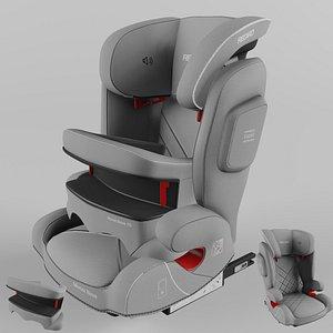3D Recaro Monza Nova IS Children Car Seat Aluminium Grey model