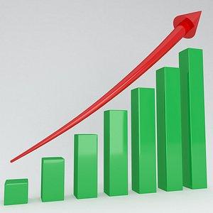 3D model trend arrow