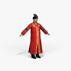 3D model taoist priest