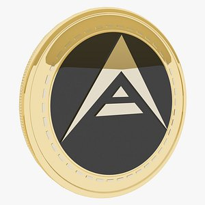 3D Ark Cryptocurrency Gold Coin