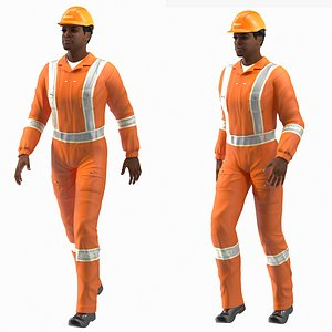 3D light skin black rescuer
