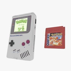 Classic Game boy 3D model