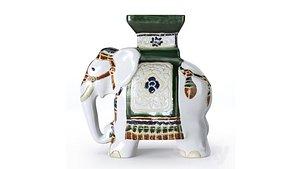3D elephant garden model