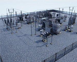 3D Electric Substation model