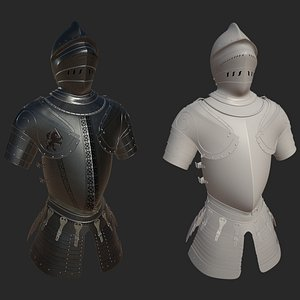 Medieval Armour ZBrush project 3D model