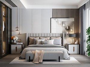 3D Modern Style Bedroom - 539
