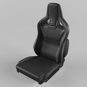 RECARO Cross Sportster CS Leather black Seat 3D