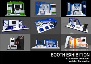 3D booth exhibit 8 model