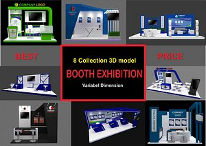 3D booth exhibit 8 model