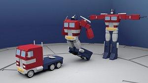 optimus rig prime 3D model