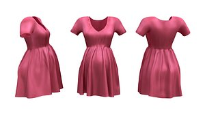 3D model Pregnancy Dress