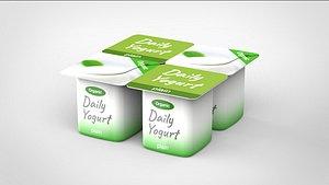3D yogurt model