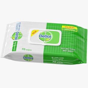 wet wipes dettol 3D
