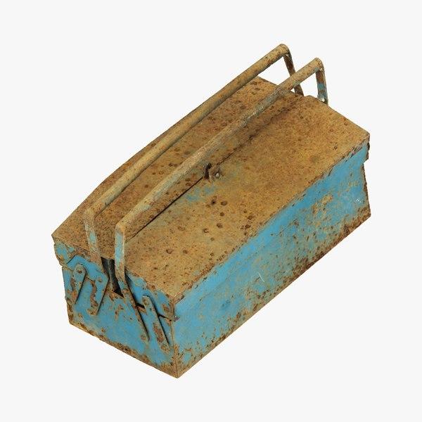 Rusty Metal Toolbox Raw Scanned model