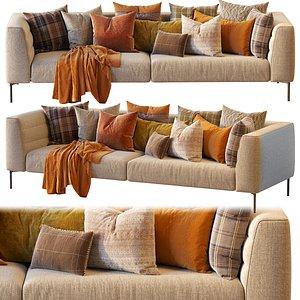 Sofa Botero Zanotta 258cm 3D