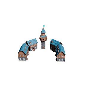 3D model fantasy city