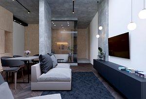 3D apartment modern scene