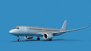 Bombardier CS100 Bare Metal 3D model