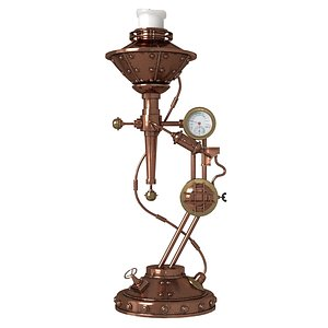 candlestick steampunk candle 3D model