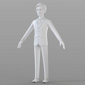 3D Cartoon Businessman