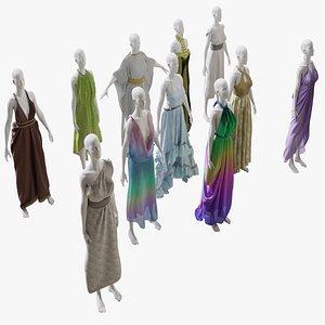 Elvs Goddess Dress Mega Pack 1 model