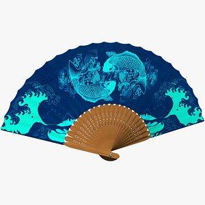 3D Traditional Japanese Fan