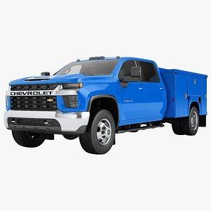 3D model Chevrolet Silverado 3500 HD 2021 Enclosed Utility 03