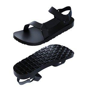 3D Teva Original Universal Urban Sandal model