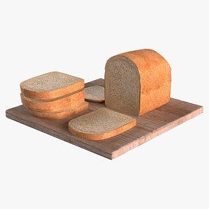 loaf sliced bread 3d model