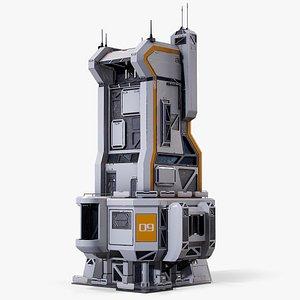 Sci-Fi Futuristic Command Center 01 PBR 3D
