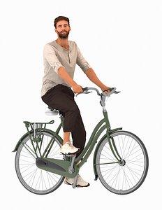 3D bike man
