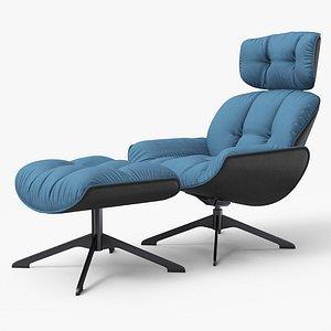 3D Armchair RB Blue
