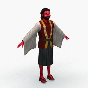 3D model demon god character