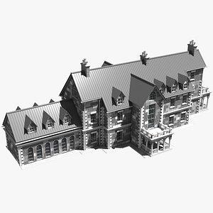 3D house building mansion