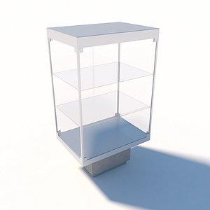 3D model Glass box display