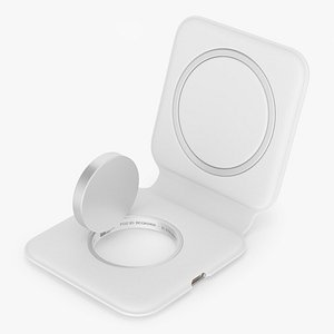 3D Apple MagSafe Duo Wireless Charger Rigged model