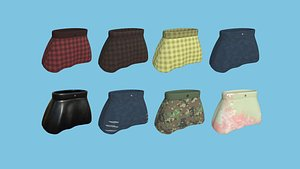 Skirt Collection - Female Character Fashion Design 3D model