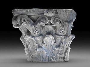 roman capital corinthian order 3D model