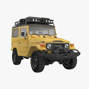 cruiser land fj40 cars 3D