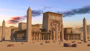 egyptian temple pharonic model